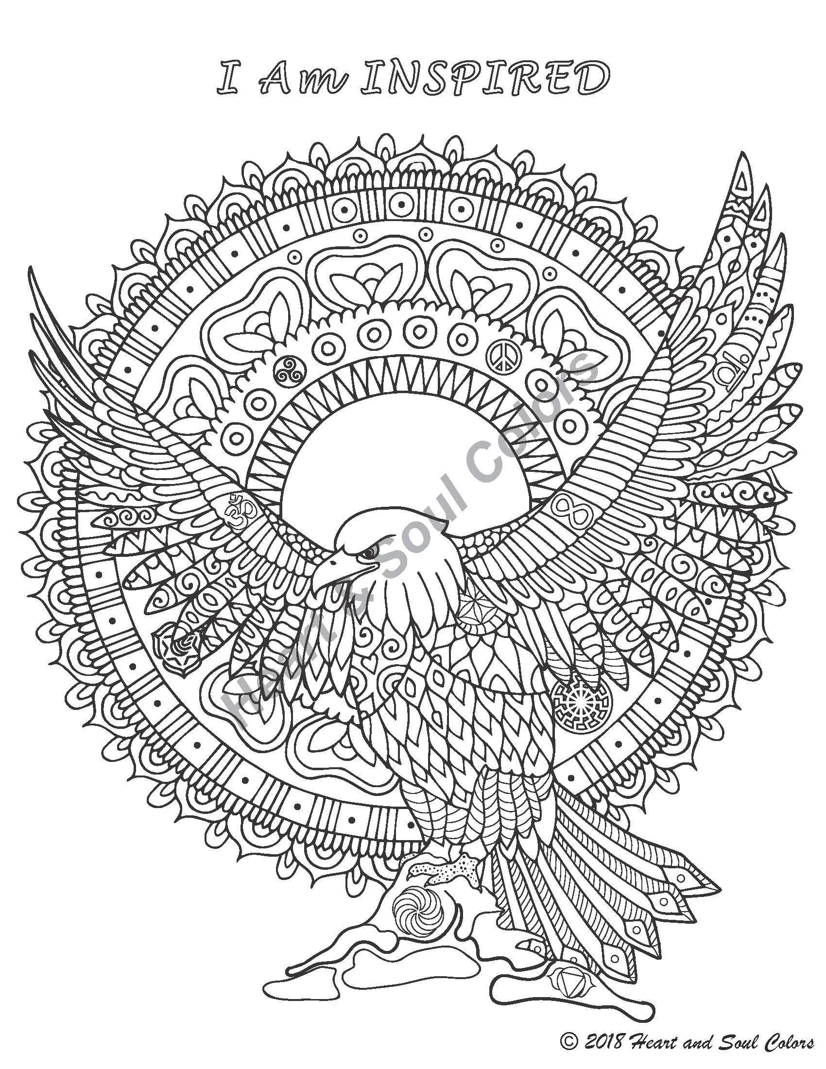 I Am INSPIRED Eagle: I Am INSPIRED Purpose: To live in the full flow of your power, strength, and expression, decisively and confidently connected to universal energy.