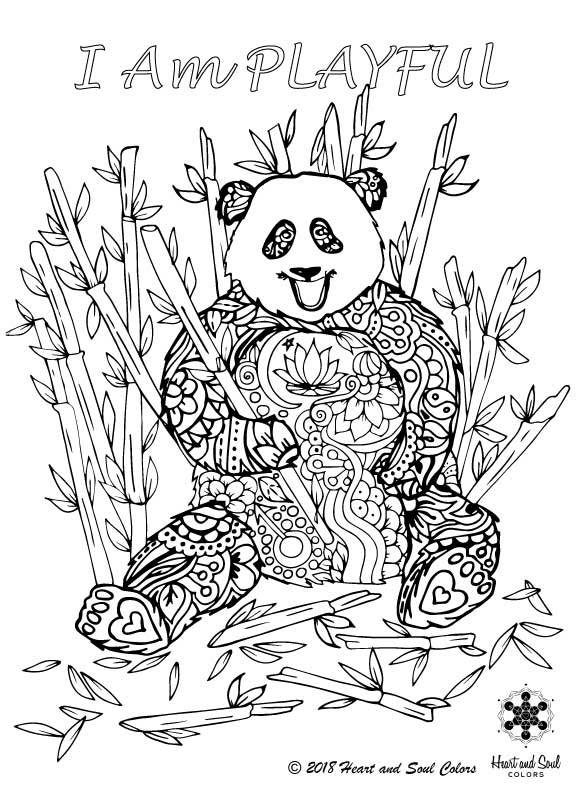 Tap into the sloth for natural health, the crane for abundance, the monkey for energy, the swan for love, the giraffe for balance, the gorilla for groundedness, the phoenix for invincibility, the panda for playfulness, the dragon for power, the tiger for strength, and the peacock for vibrancy.  As you color in your special THRIVING HEALTH kit of animals, visualize every stroke and choice as a root connecting you to Mother Earth and white light and source energy.