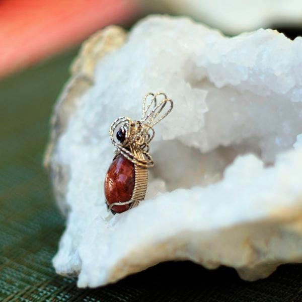 Sweet, energizing, joyful sparkly Sunstone, wrapped in sterling silver!