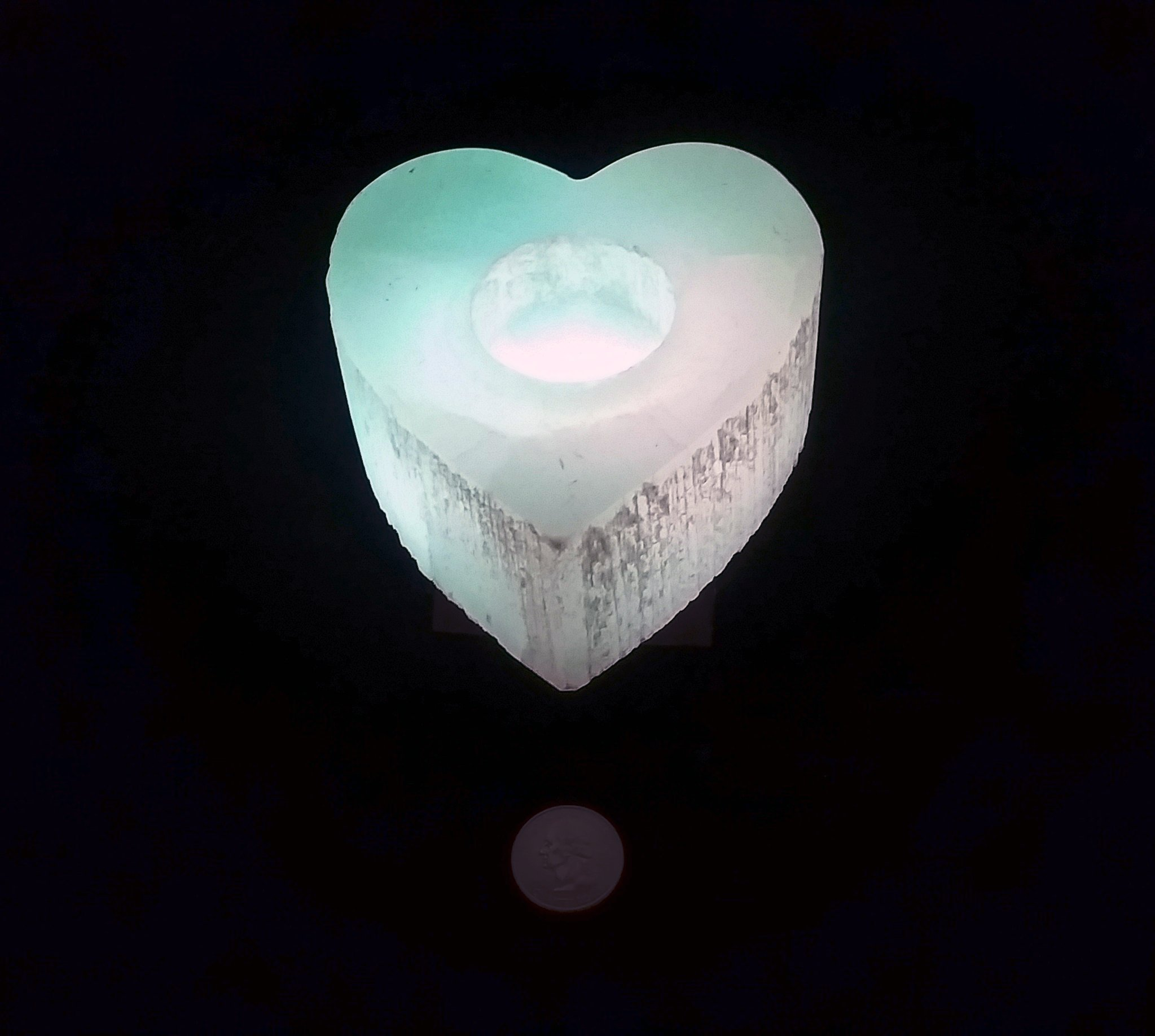 An amazing stone of cleansing and clearing, Selenite naturally dispels negative energy, removes energy blocks, and charges and amplifies other stones. Never needing clearing of its own, it is a must-have in your home.   These glowing and gorgeous Selenite candleholders will supercharge and cleanse you and your home with color, light, and high vibrations. (Add a rainbow light-changing box to truly enhance the beauty of your Selenite!)