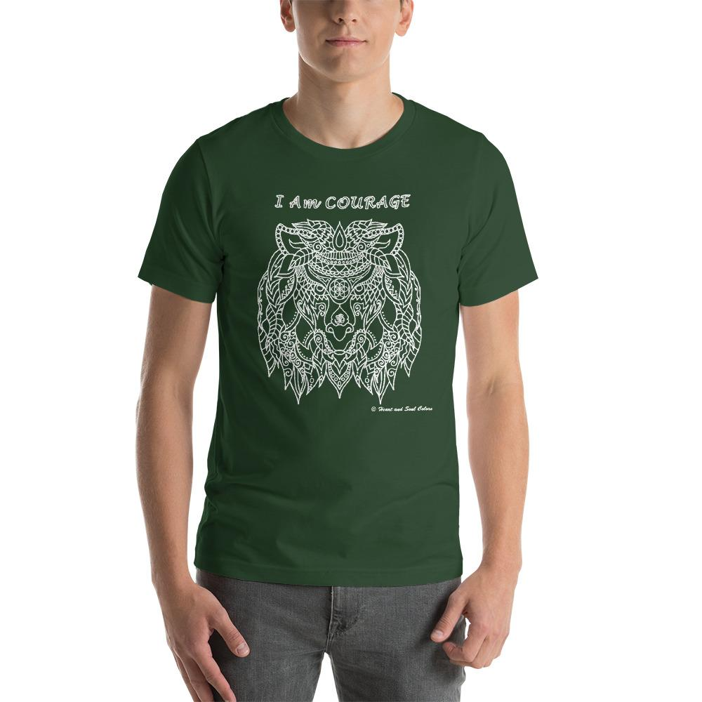 I Am COURAGE Lion Unisex T-shirt
