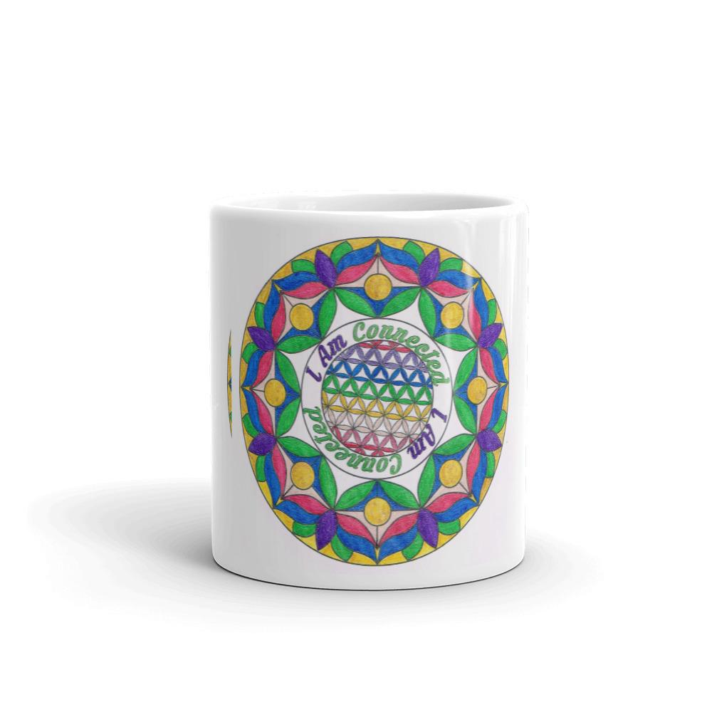 Your special I Am CONNECTED Flower of Life mug super-charges all that you place in it... drinks, flowers, soup, knickknacks, and more!