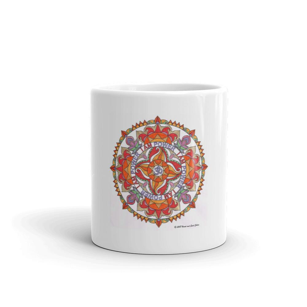 Your special I Am POWER mandala mug super-charges all that you place in it... drinks, flowers, soup, knickknacks, and more! As you use this mug, feel the power of the universe flowing through you!