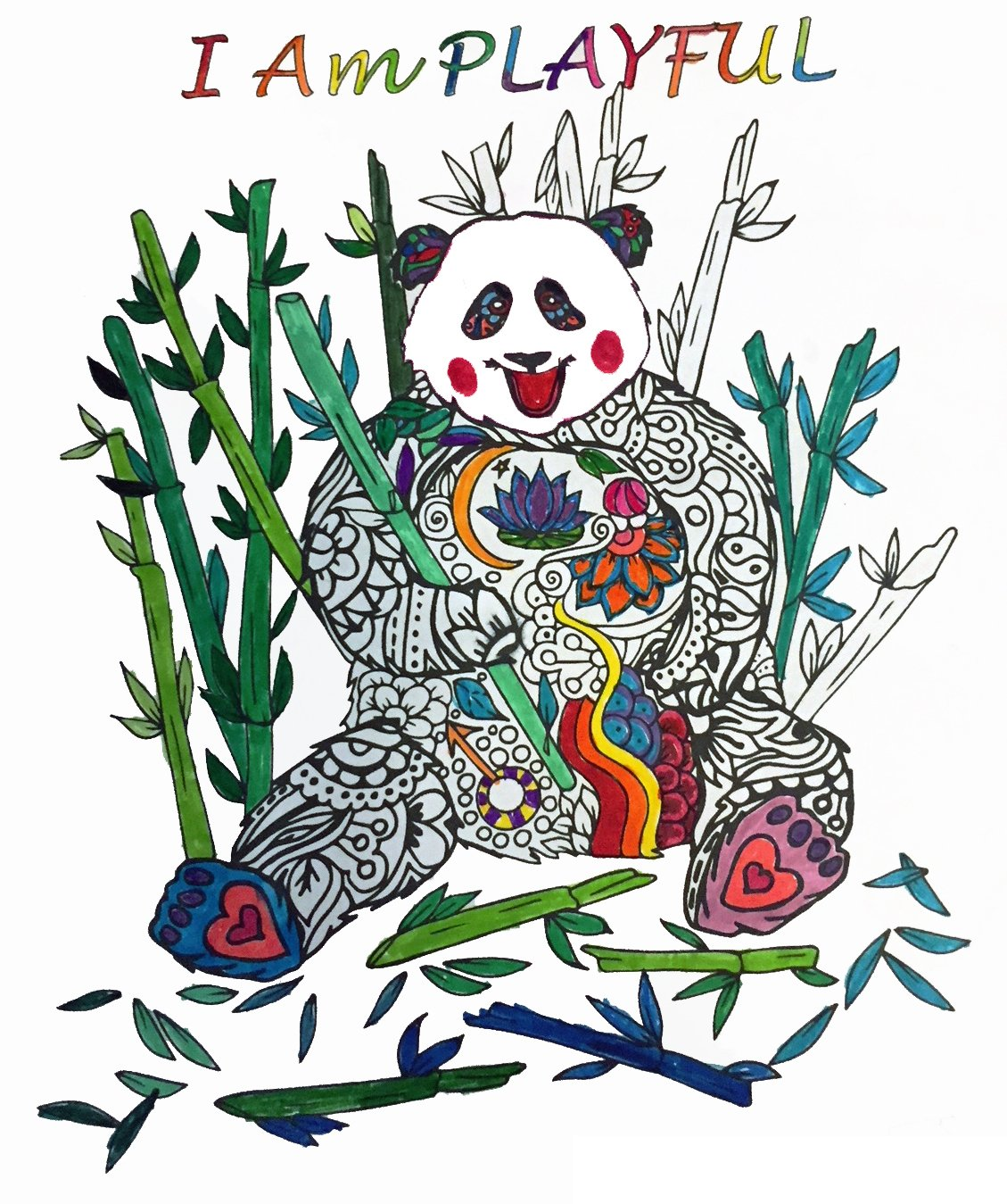 I Am PLAYFUL Purpose: To enjoy fun and adventure, freeing the inner child to frolic and fully engage all of the senses. Let the panda guide you back to reclaim the joyful sacred terrain of your inner child, letting go of what no longer serves your highest good.