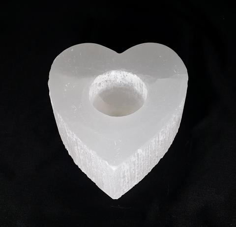 Cleansing & Clearing Selenite Candle Holder